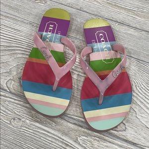 Coach Pink Cassie Flip Flop Sandals - sz 6